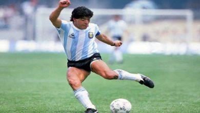 أسطورة كرة القدم الأرجنتيني الراحل دييغو مارادونا